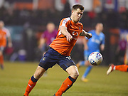 Luton Town player James Collins scores Lutons second goal in the second half during the EFL Sky Bet League 2 match between Luton Town and Barnet at Kenilworth Road, Luton, England on 24 March 2018. Picture by Ian  Muir.