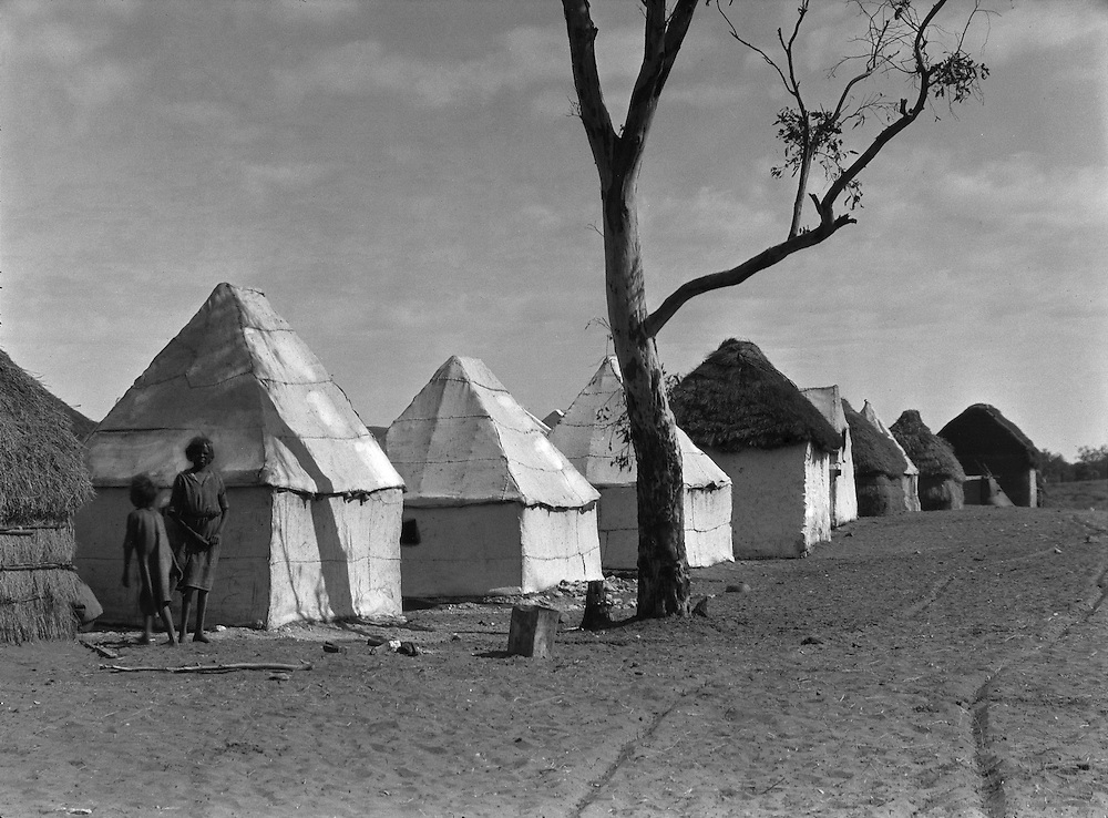 Native Huts, Hermannsburg Mission,  Central Australia, 1930