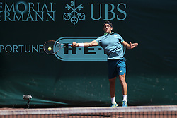 April 11, 2018 - Houston, TX, U.S. - HOUSTON, TX - APRIL 11: Nicolas Kicker (ARG) hits a forehand during the second round of the US Men's Clay Court Championship on April 11, 2018 at River Oaks Country Club in Houston, Texas. (Photo by George Walker/Icon Sportswire) (Credit Image: © George Walker/Icon SMI via ZUMA Press)