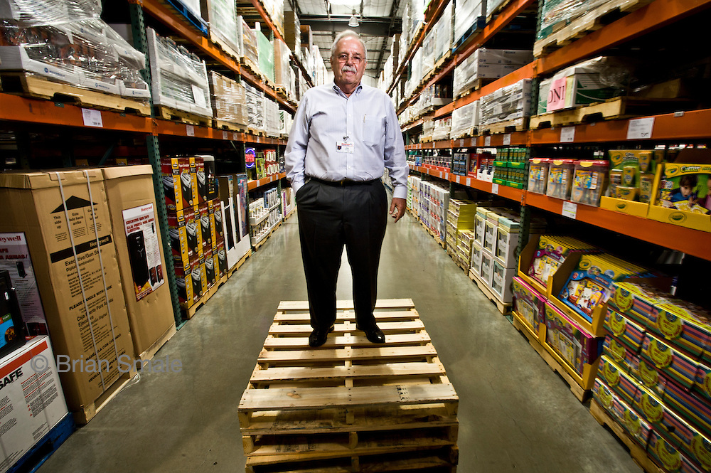 Jim Sinegal, CEO of Costco Wholesale.  Photographed by Brian Smale in Seattle, for BusinessWeek Magazine.