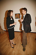 Cherie Lunghi and Tot Taylor, USA Today. Saatchi Gallery and The Royal academy of Arts. Piccadilly. London. 5 October 2006. -DO NOT ARCHIVE-© Copyright Photograph by Dafydd Jones 66 Stockwell Park Rd. London SW9 0DA Tel 020 7733 0108 www.dafjones.com