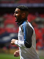 Football - 2017 / 2018 Premier League - Tottenham Hotspur vs. Leicester City<br /> <br /> Leicester City's Riyad Mahrez during the pre-match warm-up, at Wembley Stadium.<br /> <br /> COLORSPORT/ASHLEY WESTERN