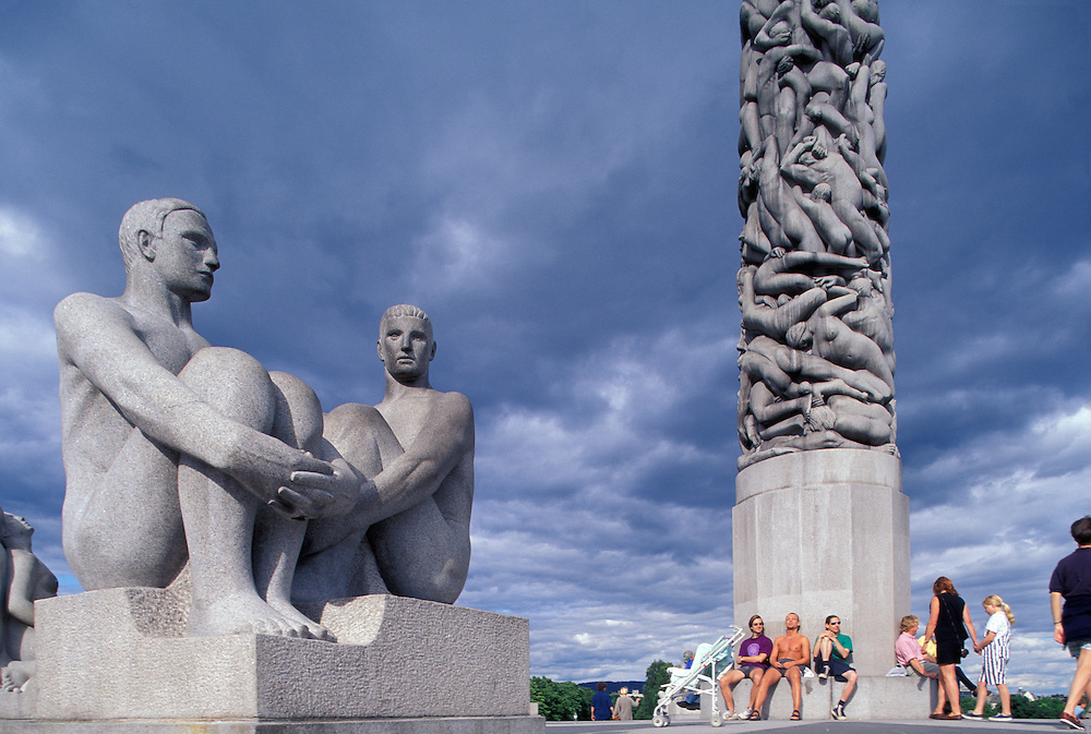 Europe, Norway. Sculpture garden at Vigeland Park in Frognerseteren Park