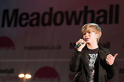 Britains Got Talent Star 13 year old Ronan Parke  Meadowhalls Christmas lights switch on concert in Sheffield on Thursday evening 3 November 2011. Image © Paul David Drabble