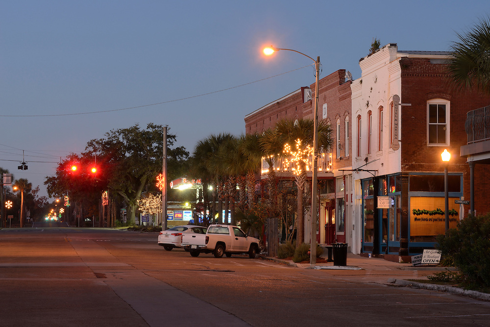 American Nightscapes  Hotel Marina<br /> <br /> Town center, Apalachicola, Florida,USA, 2104
