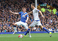 James McCarthy of Everton and Nemanja Matic of Chelsea in action during the Barclays Premier League match at Goodison Park, Liverpool.<br /> Picture by Michael Sedgwick/Focus Images Ltd +44 7900 363072<br /> 12/09/2015