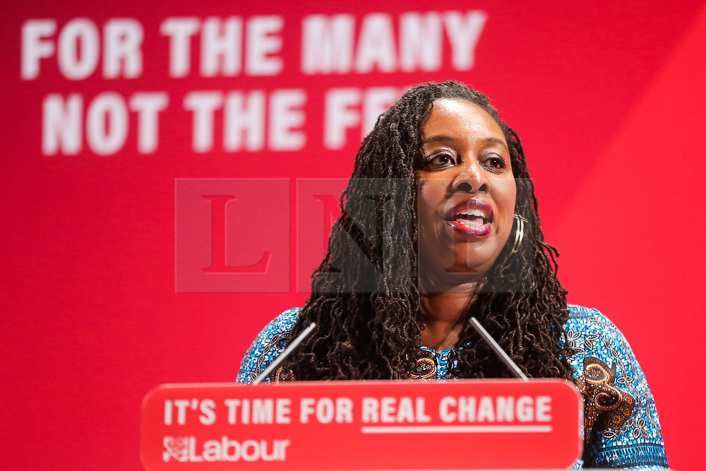 © Licensed to London News Pictures. 26/11/2019. London, UK.  Shadow Women & Equalities Secretary, DAWN BUTLER speaks at the launch of Labour Party's Race and Faith Manifesto at the Bernie Grant Arts Centre in Tottenham, North London. DAWN BUTLER launched the Race and Faith consultation at Labour Party conference, which received over 1,700 online responses, and held consultation events across the country to get to the issues affecting Black, Asian and Minority Ethnic (BAME) and faith communities. Photo credit: Dinendra Haria/LNP
