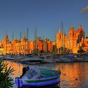 Malta Harbor Sunset