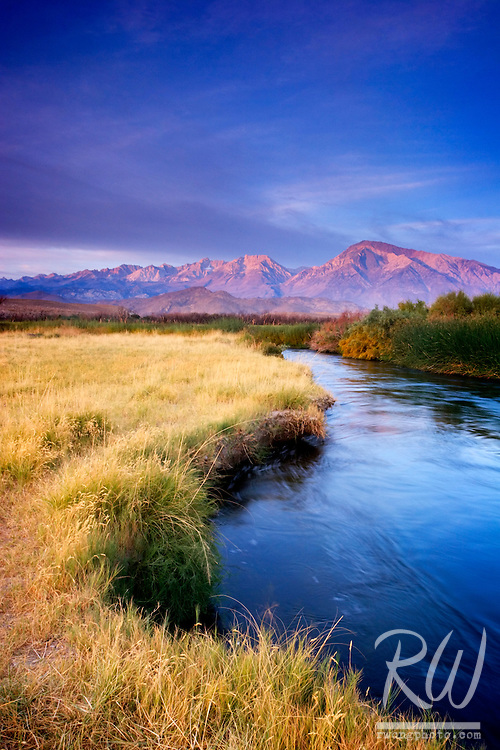 Owens River Sunrise, Owens Valley, California