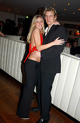 ED McDERMOTT and ALEXANDRA GILPIN at a night of Cuban Cocktails and Cabaret hosted by Edward Taylor and Charles Beamish at Floridita, 100 Wardour Street, London W1 on 14th April 2005.<br />