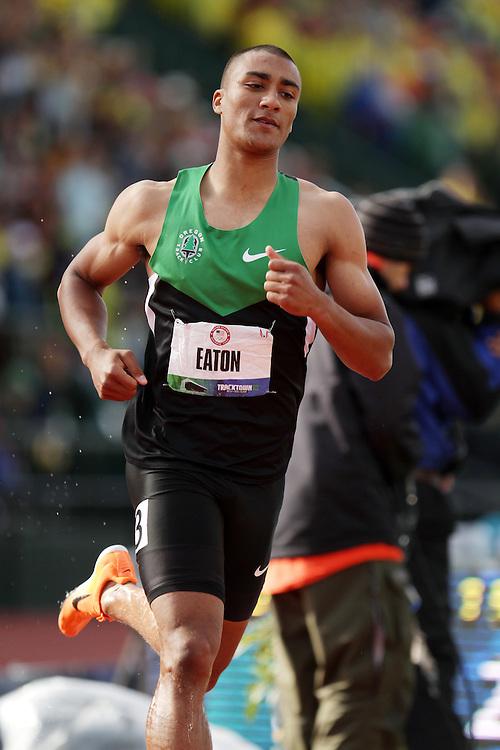 Olympic Trials Eugene 2012: Decathlon, 1500 meters, Ashton Eaton, sets world record, Olympian