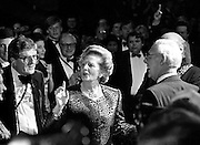 Prime Minister Margaret Thatcher holds court at the Conservative Conference in Brighton 1988