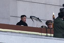 Top leader Kim Jong Un (L) attends the inaugural ceremony for the renovated Kumsusan Palace of the Sun, where the embalmed bodies of Kim Il Sung and Kim Jong Il are laid in Pyongyang, capital of the Democratic People s Republic of Korea (DPRK), December 17, 2012, Photo by Imago / i-Images...UK ONLY