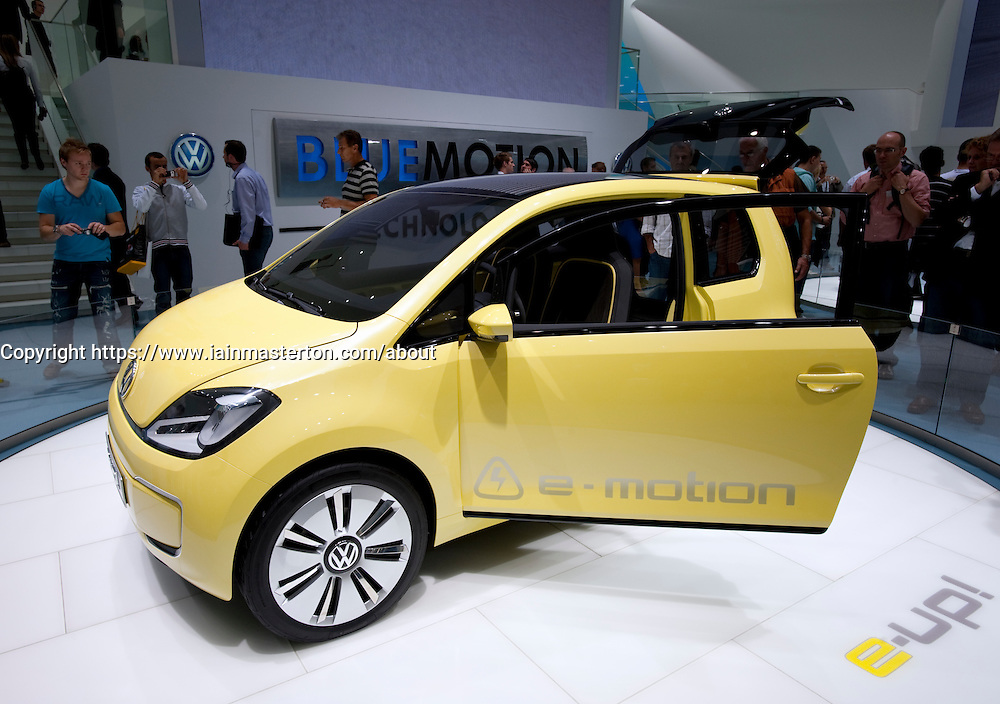 Concept e-UP electric car on display at Frankfurt Motor Show 2009