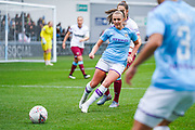 Manchester City Women forward Georgia Stanway (10) passes the ball during the FA Women's Super League match between Manchester City Women and West Ham United Women at the Sport City Academy Stadium, Manchester, United Kingdom on 17 November 2019.