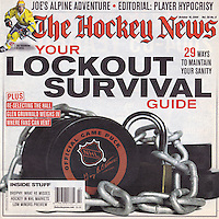 2004:  October 19  NHL Lockout Survival Guide.  Photos on cover and inside.
