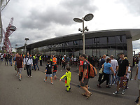 Football - 2016 / 2017 Premier League - West Ham United vs. AFC Bournemouth<br /> <br /> Fans gather at the ticket office outside the stadium at The London Stadium.<br /> <br /> COLORSPORT/DANIEL BEARHAM
