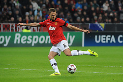 27.11.2013, BayArena, Leverkusen, GER, UEFA CL, Bayer Leverkusen vs Manchester United, Gruppe A, im Bild Jonny Evans ( Manchester United / Freisteller ) // during UEFA Champions League group A match between Bayer Leverkusen vs Manchester United at the BayArena in Leverkusen, Germany on 2013/11/28. EXPA Pictures © 2013, PhotoCredit: EXPA/ Eibner-Pressefoto/ Thienel<br /> <br /> *****ATTENTION - OUT of GER*****