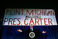 Jimmy Carter campaigning for relection in Flint, Michigan in October 1980<br /> Photo by Dennis Brack