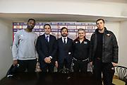 DESCRIZIONE : Roma Lega A conferenza stampa Acea Roma Seat Stemacwagen<br /> GIOCATORE : Marco Calvani Bobby Jones Maurizio Celon Olek Czyz Nicola Alberani<br /> SQUADRA : Acea Roma<br /> CATEGORIA : curiosita ritratto<br /> EVENTO : Lega A 2012 2013<br /> GARA : conferenza stampa<br /> DATA : 07/12/2012<br /> SPORT : Pallacanestro<br /> AUTORE : Agenzia Ciamillo-Castoria/M.Simoni<br /> Galleria : Lega A 2012-2013<br /> Fotonotizia :  Roma Lega A conferenza stampa Acea Roma Seat Stemacwagen<br /> Predefinita :