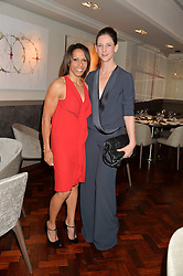 Left to right, DAME KELLY HOLMES and MARIA GRACHVOGEL at a dinner to celebrate 20 years of Maria Grachvogel's fashion label held at Salmontini, 1 Pont Street, London on 22nd October 2014.