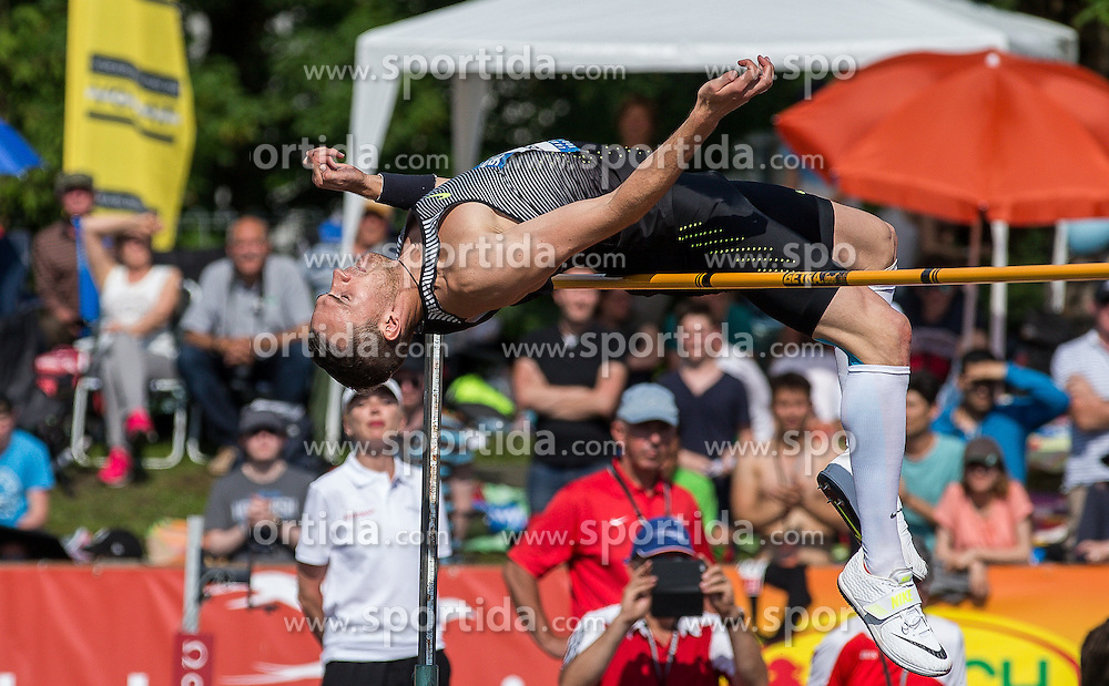 28.05.2016, Moeslestadion, Goetzis, AUT, 42. Hypo Meeting Goetzis 2016, Zehnkampf der Herren, Hochsprung, im Bild Dominik Distelberger (AUT) // during the high jump event of the Decathlon competition at the 42th Hypo Meeting at the Moeslestadion in Goetzis, Austria on 2016/05/28. EXPA Pictures © 2016, PhotoCredit: EXPA/ Peter Rinderer