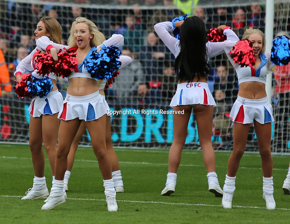 19.03.2016. Selhurst Park , London, England. Barclays Premier League. Crystal Palace versus Leicester City.   Palace cheerleaders