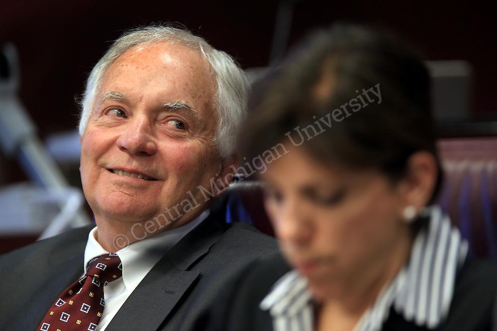 Board member John D. Hurd during the CMU Board of Trustees meeting in the University Center on Thursday September 19, 2013.
