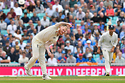 Ben Stokes of England bowling during day 3 of the 5th test match of the International Test Match 2018 match between England and India at the Oval, London, United Kingdom on 9 September 2018.