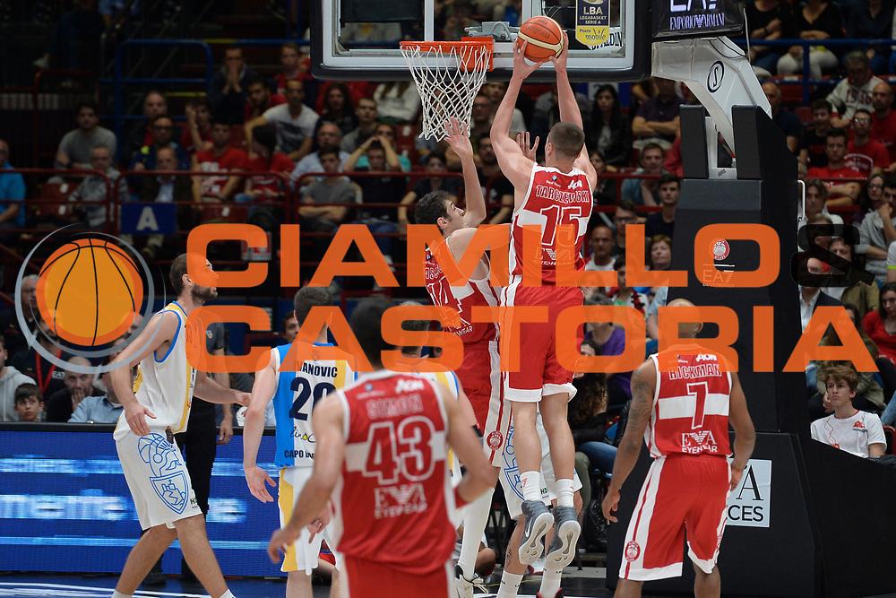 Kaleb Tarczewski<br /> Olimpia EA7 Emporio Armani Milano vs Vanoli Cremona<br /> Lega Basket Serie A 2016/2017<br /> PlayOff semifinale gara 2<br /> Milano 14/05/2017<br /> Foto Ciamillo-Castoria / I.Mancini