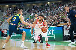 Blaz Mesicek of Slovenia and Jaime Fernandez of Spain during basketball match between Slovenia and Spain in Round #5 of FIBA Basketball World Cup 2019 European Qualifiers, on June 28, 2018 in SRC Stozice, Ljubljana, Slovenia. Photo by Urban Urbanc / Sportida