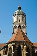 Meißen, Altstadt, Liebfrauenkirche, Sachsen, Deutschland. .old town of Meissen, church of Our Lady, Saxony, Germany.