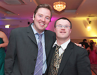 Fred Thomine, Salthill & Damien Faherty, Ros a Mhil at the Ability WestBest Buddies ball at the Menlo Park Hotel, Galway. Photo:Andrew Downes Photography.