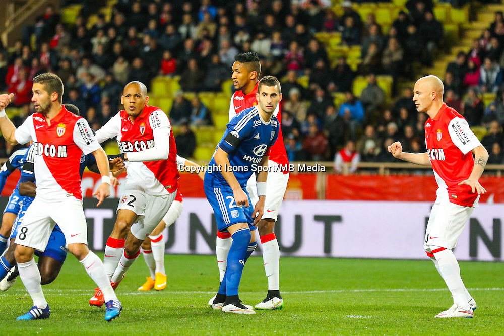 Maxime GONALONS / WALLACE  - 01.02.2015 - Monaco / Lyon - 23eme journee de Ligue 1 -<br /> Photo : Serge Haouzi / Icon Sport