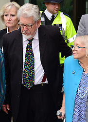 Artist and television personality Rolf Harris arrives with his wife Alwen Hughes The City of Westminster Magistrates Court, London, England. Mr Harris, who was arrested in March by police officers working for Operation Yewtree, has been charged with nine counts of indecent assault on teenage girls and four counts of making indecent images of children, United Kingdom. Monday, 23rd September 2013. Picture by Nils Jorgensen / i-Images<br />