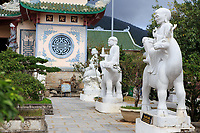 Marble statues in the courtyard of the Linh Ung Pagoda in Da Nang, Vietnam