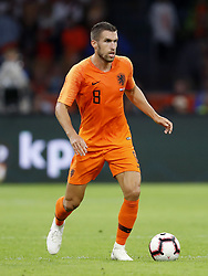 Kevin Strootman of Holland during the International friendly match match between The Netherlands and Peru at the Johan Cruijff Arena on September 06, 2018 in Amsterdam, The Netherlands