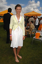 LOUISA WENTWORTH-STANLEY at the final of the Veuve Clicquot Gold Cup 2007 at Cowdray Park, West Sussex on 22nd July 2007.<br />