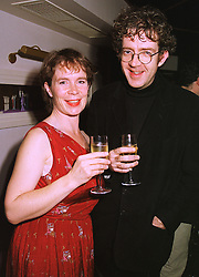 Actress CELIA IMRIE and MR BILL BANKES-JONES, at a party in London on 3rd November 1998.MLN 16