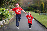 No fee for Repor: 18/12/2012 .Former Irish athletics star, Eamonn Coghlan was joined by five year-old Rebecca Keenan from Cabinteely to launch this year's series of Christmas GOAL Mile events. Coghlan is holding his own GOAL Mile at Porterstown Park in Castleknock on St Stephen's Day at 11 a.m. A total of 100 GOAL Miles have been organised by members of the public around the country this Christmas. Dates, times and locations of all GOAL Miles are listed at www.goal.ie  Picture Andres Poveda