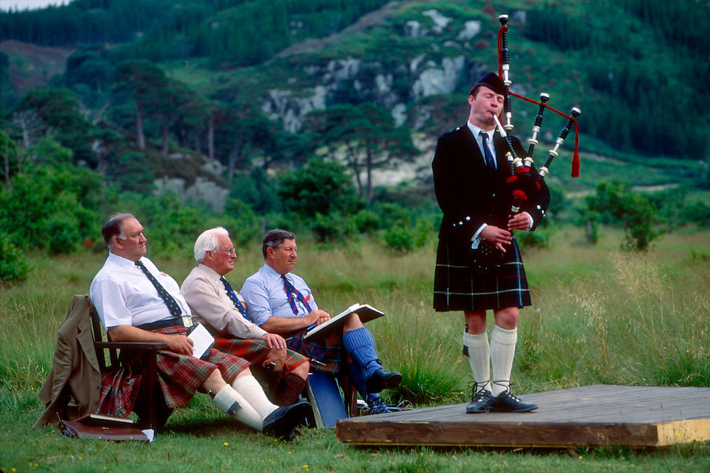 Piping competition at the Glenfinnan Games, Scotland.