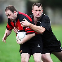 Paddy Guilfoyle in action during the Ennis V Cobh Rugby match in Ennis on Saturday .<br /> Photograph by Eamon Ward
