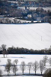 © Licensed to London News Pictures. 30/01/2019. Butlers Cross, UK.  A snow covered landscape in Butlers Cross, Buckinghamshire, as snow hits the south east of England. Photo credit: Ben Cawthra/LNP