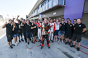 Richard Verschoor celebrates with his team after winning the NZ Motor Cup at Round 3 of the 2018 Castrol Toyota Racing Series at Hampton Downs, Sunday January 28, 2018.<br /> Copyright photo: Bruce Jenkins / www.photosport.nz