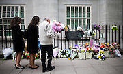 UNITED KINGDOM, London: 7 July 2015 Friends and family of the victims of the July the 7th bombing in London mourn and pay there respects at the spot where the number 30 bus was attacked on the ten year anniversary at Tavistock Square in London, England. Andrew Cowie / Story Picture Agency