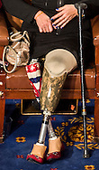 The Army decor and women shoes adorn the prosthetic legs of Rep. Tammy Duckworth, (D-IL) during the 113th ceremonial swearing-in ceremony at the U.S. Capitol in Washington D.C. January 3, 2012.  UPI/Ken Cedeno