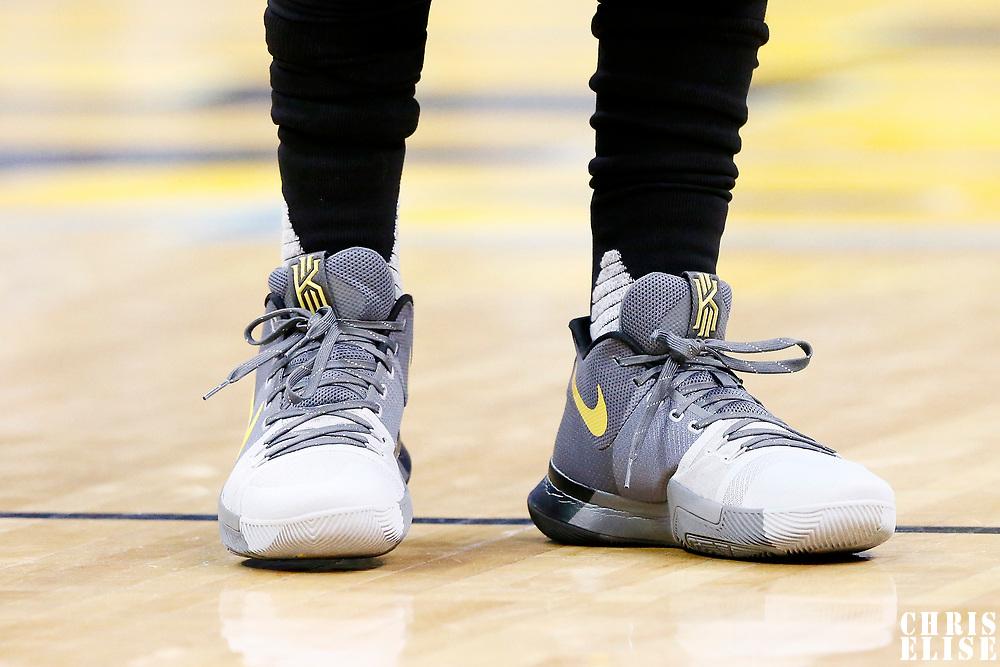 22 March 2017: Close view of Cleveland Cavaliers guard Kyrie Irving (2) Nike shoes prior to the Denver Nuggets 126-113 victory over the Cleveland Cavaliers, at the Pepsi Center, Denver, Colorado, USA.