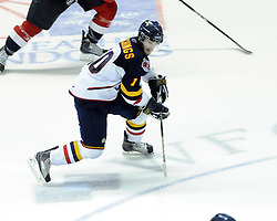 Alex Hutchings of the Barrie Colts in Game 3 of the Rogers OHL Championship Series in Windsor on Sunday May 2. Photo by Aaron Bell/OHL Images