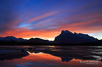 Mt Rundle and Vermilion Lakes at sunrise, Banff National Park, Alberta, Canada