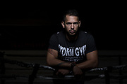 Andrew Tate, photographde at Storm Gym, Luton.